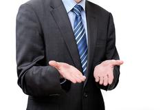 helplessness of a businessman - stock photo