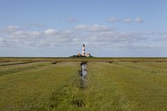 westerhever light house (germany) - stock photo