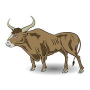 old bull - stock illustration