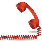 Red telephone Stock Illustration