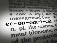 Dictionary economical - stock illustration
