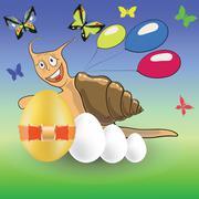 Easter snail Stock Illustration