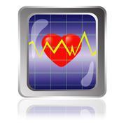 Cardiogram icon Stock Illustration