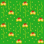 Green Xmas Wrapping - stock illustration