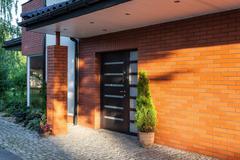 front door - stock photo