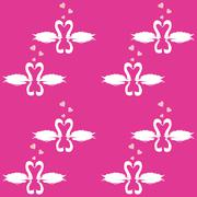 Swan Pattern Stock Illustration