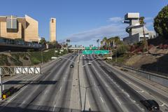 Stock Photo of hollywood 101 freeway in downtown los angeles