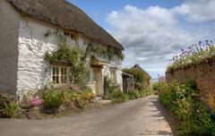 Devonshire cottage Stock Photos