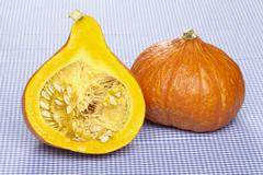 Hokkaido pumpkin and a half Stock Photos