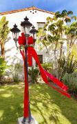 Christmas lantern garden mission san buenaventura ventura california Stock Photos