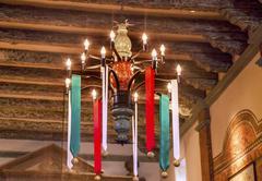 Chandelier mission san buenaventura basilica christmas day ventura california Stock Photos