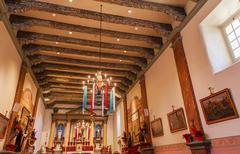 Mission san buenaventura basilica christmas day ventura california Stock Photos