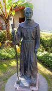 father junipero serra statue mission san buenaventura ventura california - stock photo