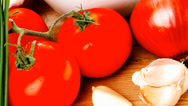 Stock Video Footage of healthy appetizer : fresh tomato salad