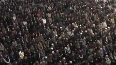 Ankara, Turkey, large crowd attends Friday prayer, Islam, muslims Stock Footage