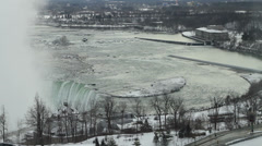 View of the Horseshoe Falls at the Canadian Side Stock Footage