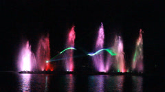 Dancing fountains Stock Footage