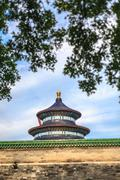 Temple of heaven view from garden Stock Photos