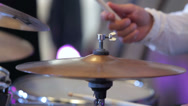 Stock Video Footage of musician playing the percussion instruments