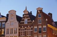 Stock Photo of amsterdam, netherlands - gables in the evening