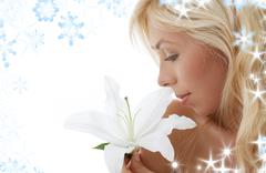 madonna lily blonde - stock illustration