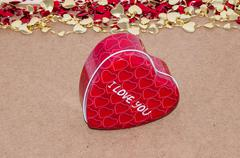 Happy valentines day. love and happiness... Stock Photos