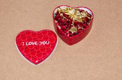 happy valentines day. love and happiness... - stock photo