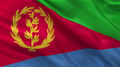 Flag of Eritrea - seamless loop Stock Footage