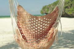 Hammock on beautiful exotic beach NTSC Stock Footage