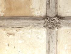 tudor rose ceiling - stock photo