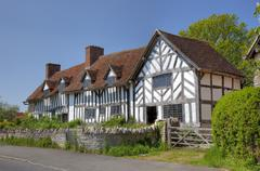 mary arden's house - stock photo
