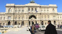 Palazzo di Giustizia in Rome (dolly) - stock footage