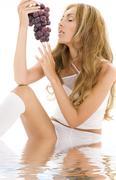 Stock Illustration of grape desire
