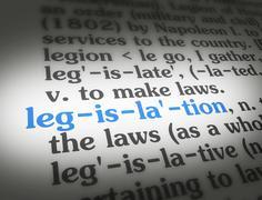 Dictionary legislation - stock illustration