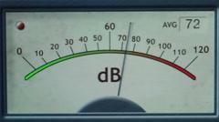 Electronic Decibel Meter 1 Stock Footage
