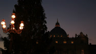 Stock Video Footage of Night time at St Peters at christmas