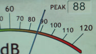 Stock Video Footage of Electronic Decibel Meter 2