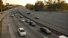 Highway Traffic 19 Highway Sunset Stock Footage