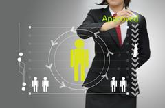 Business woman selected person talent - stock illustration