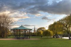 park at stratford upon avon - stock photo