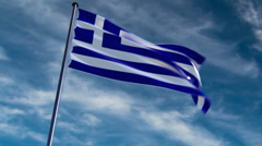 Greece Flag, HQ animated on an epic background Stock Footage