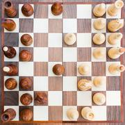 Chess board with all the figures Stock Photos