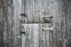 Two wooden doors Stock Photos