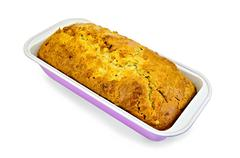 fruitcake in a rectangular shape - stock photo
