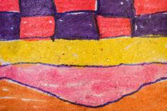 Children's patterns ornaments Stock Photos