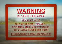 Restricted access sign Stock Photos