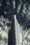 infra red abstract architecture - stock photo
