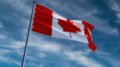 Canada Flag, HQ animated on an epic background Stock Footage