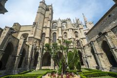 Narbonne, cathedral cloister Stock Photos