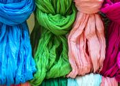 Stock Photo of pezenas (france): colorful foulards
